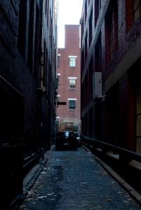 Old bluestone paving in St John's Lane. Photo by Tristan Davies, 2012.