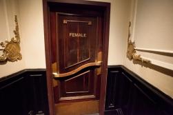 First-floor lobby original door