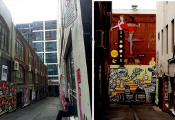 ACDC Lane before and after.