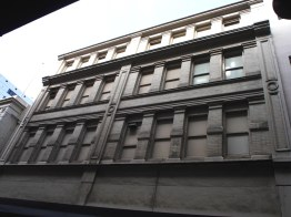 Little Bourke St. Victorian Warehouse back of Myer, built 1888. Demolished for Emporium redevelopment.