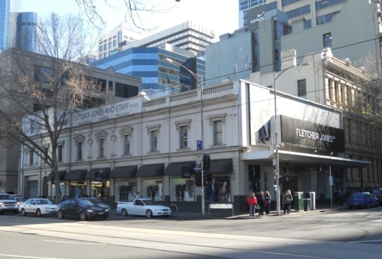 Cobden Buildings later Fletcher Jones, 360-372 Flinders Street RS