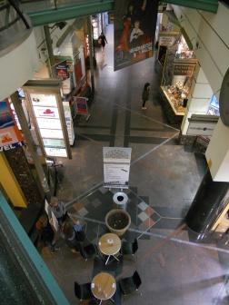 1987 Post-modern interiors of Centreway Arcade, Collins St.
