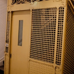 Original lift-cage in Chanonry, Collins St. 1912