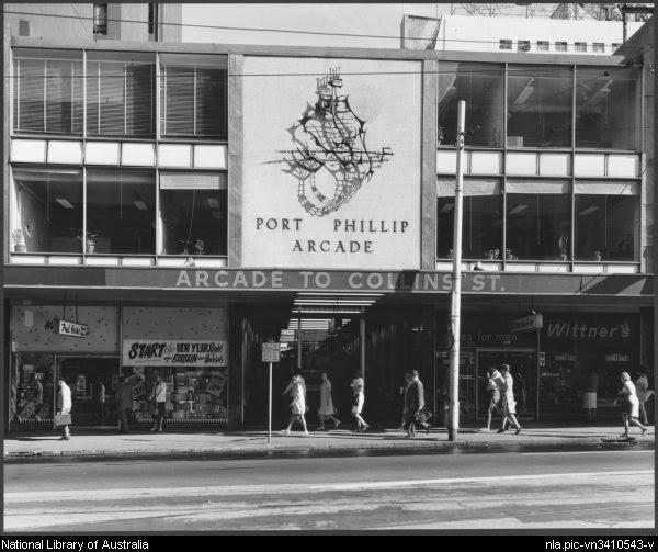 Flinders street Melbourne Port Phillip Arcade