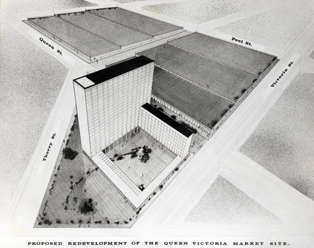 1970s proposed Vic Market redevelopment