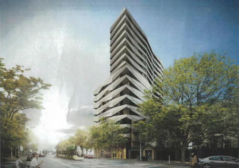 the proposal, where the front of the current building could easily be retained