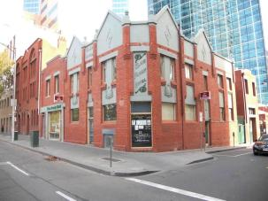 Elms Family Hotel, heritage listed, but recently facaded for an office development.