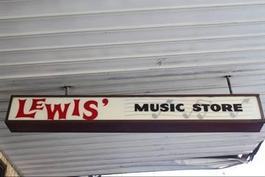 Lewis' Music Store sign, 1963