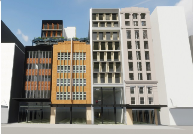 Bourke Street elevation